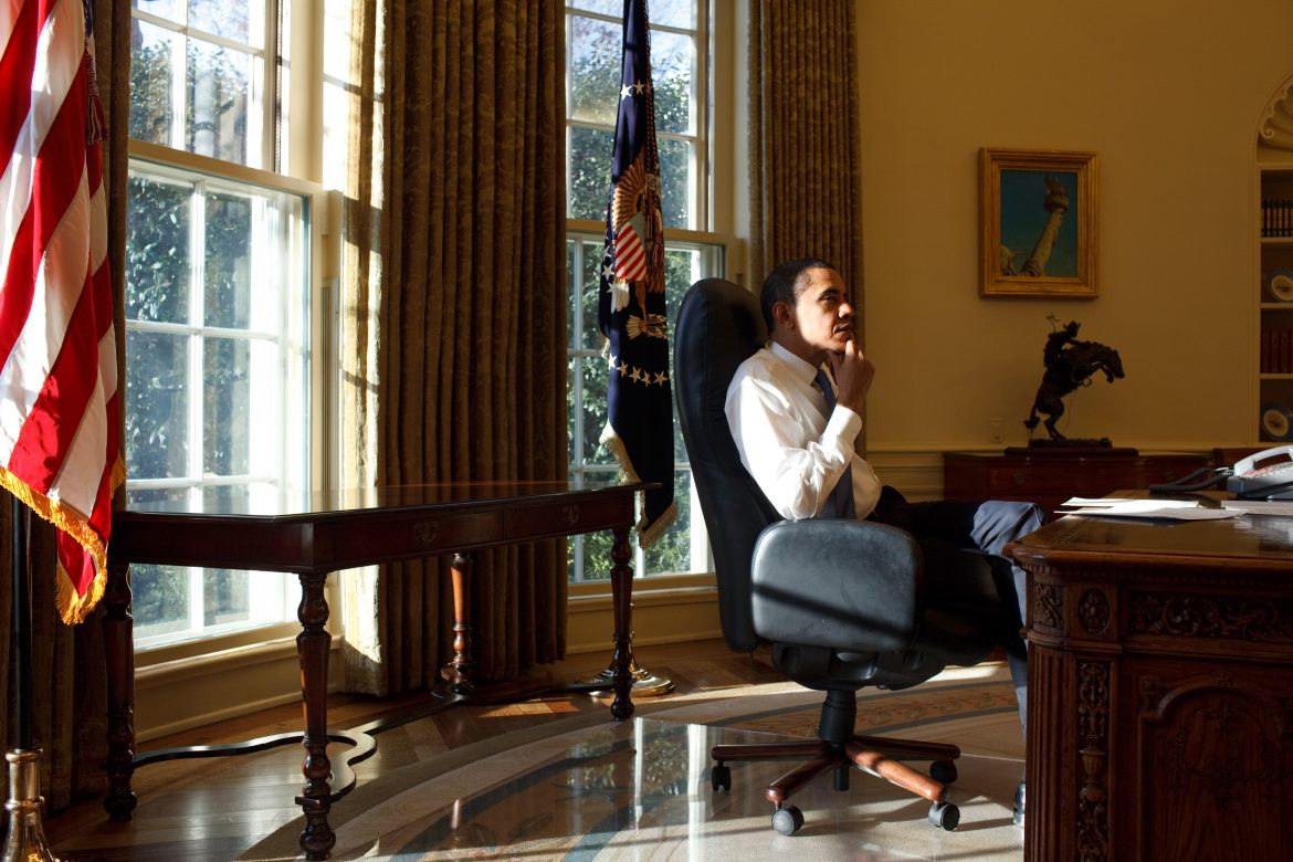 """Obama @ oval office""  Interiors: Oval office and its makeovers over the time Barack Obama thinking first day in the Oval Office"
