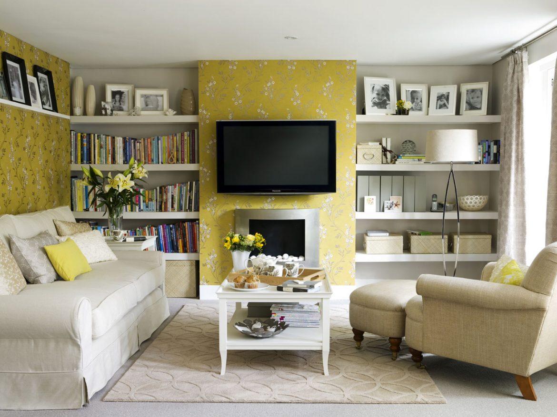 """""""Decor Secrets for your living room""""  Decor Secrets for your living room yellow wallpaper living room"""